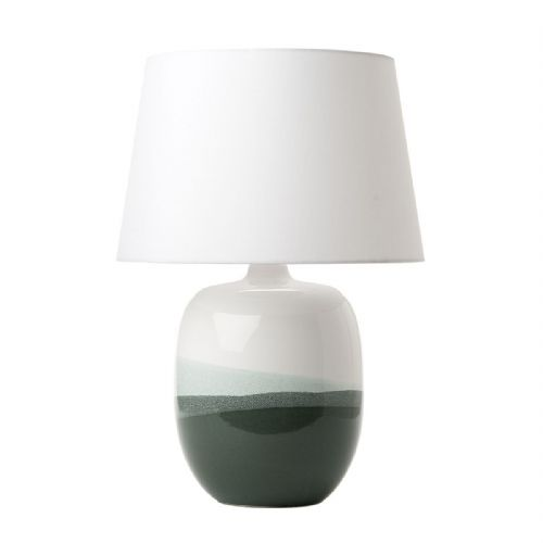 Lautaro Table Lamp Green/White Base Only